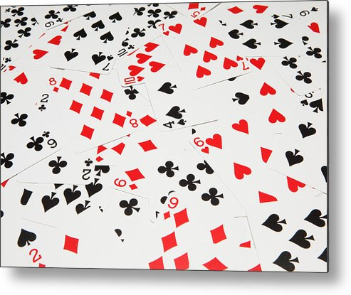 Horizontal Metal Print featuring the photograph Playing Cards by Nicholas Eveleigh