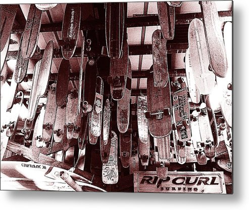 Skateboards Metal Print featuring the photograph Skate Shop by Jame Hayes