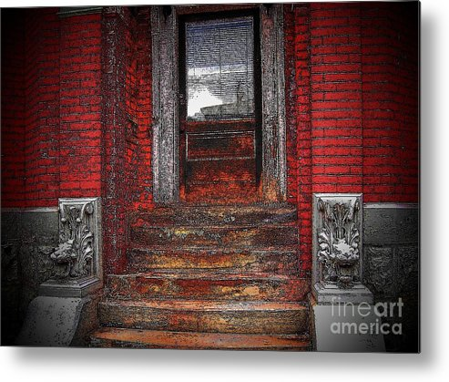 Bricks Metal Print featuring the photograph Steps To The Past by Victor Sexton