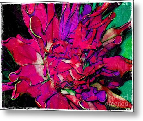 Fabric Metal Print featuring the photograph Swirly Fabric Flower by Judi Bagwell