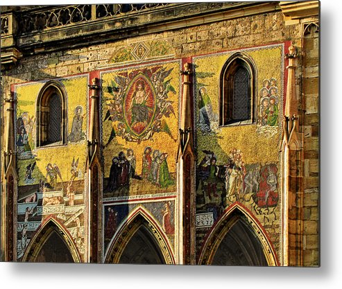 Judgment Metal Print featuring the photograph The Last Judgment - St Vitus Cathedral Prague by Christine Till
