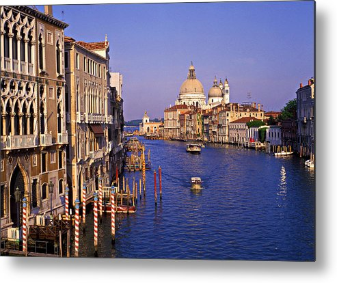 Horizontal Metal Print featuring the photograph Venice, Grand Canal, Italy by Hans-Peter Merten