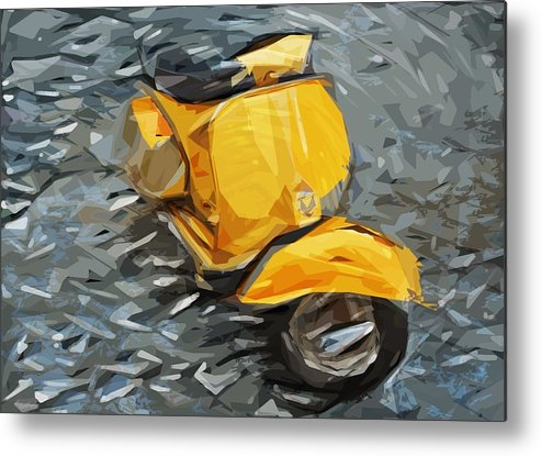 Vespa Metal Print featuring the digital art Vespa by Tilly Williams