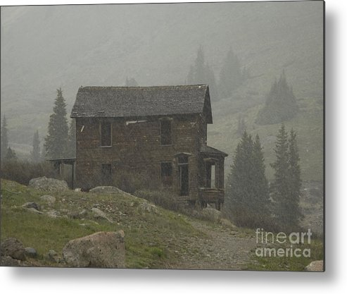 Silverton Metal Print featuring the photograph Walsh-duncan House In Storm by Tim Mulina