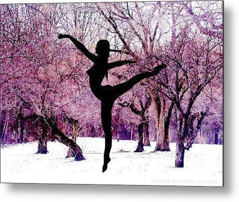 Ballerina Metal Print featuring the photograph Winter Fantasy 01 by Norman Price