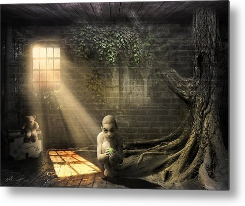 Abandoned Metal Print featuring the photograph Wishing Play Room by Svetlana Sewell