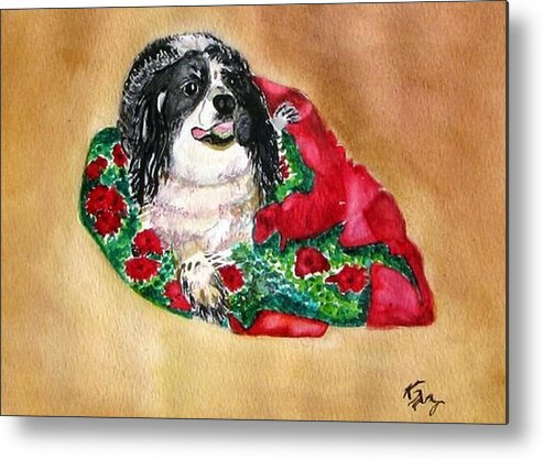 Cocker Spaniel Metal Print featuring the painting Cookie by Karla Mathey