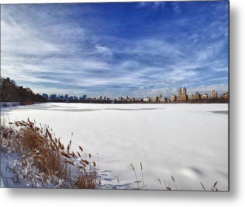 Snow Metal Print featuring the photograph Snow Storm 2 Panorama by Robert Ullmann