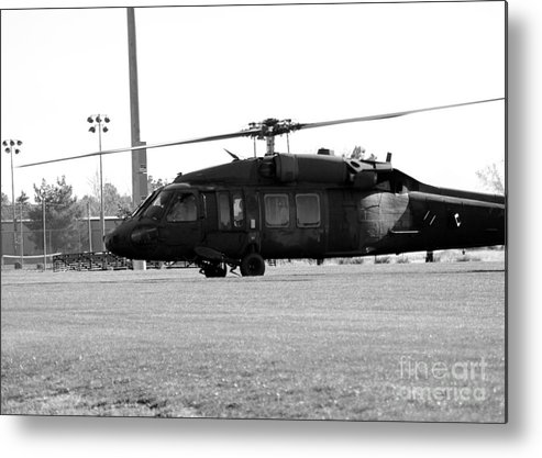 Us Metal Print featuring the photograph Us Army Blackhawks by Brenton Woodruff