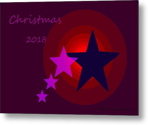 1340 Christmas 2018 Metal Print featuring the digital art 1340 Christmas 2018 by Irmgard Schoendorf Welch