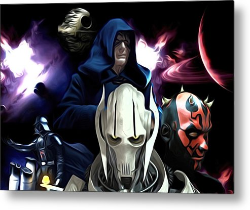 Star Wars Metal Print featuring the digital art 2 Star Wars Art by Larry Jones