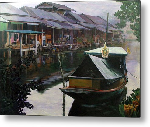 Acrylic Metal Print featuring the painting Untitled by Chonkhet Phanwichien