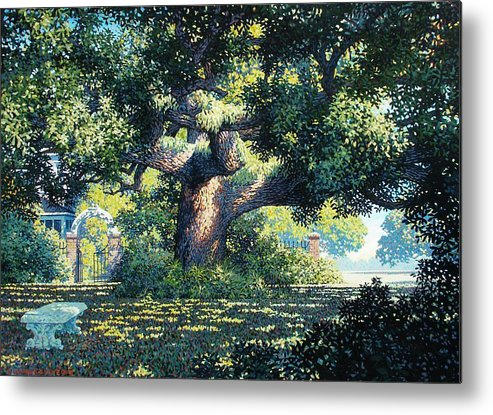 Landscape Metal Print featuring the painting Charlies Friend by Kevin Lawrence Leveque