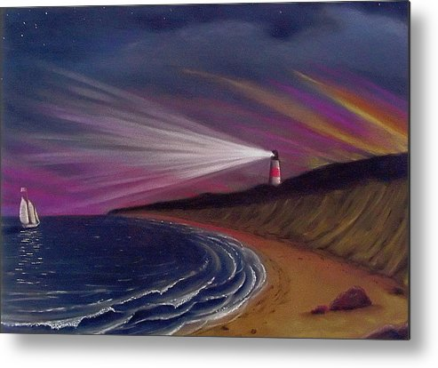 Sankaty Metal Print featuring the painting Sankaty Head Lighthouse Nantucket by Charles Harden