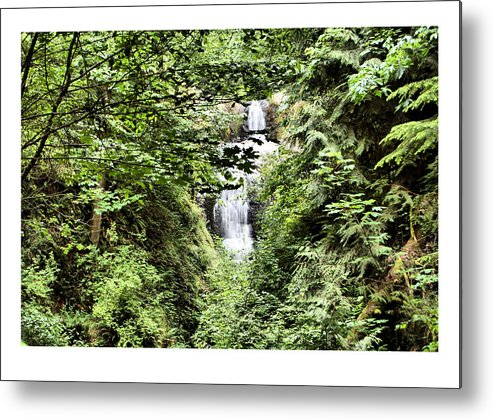 Waterfall Metal Print featuring the photograph A Secret Place by J D Banks