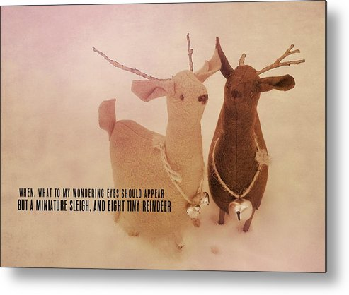 Reindeer Metal Print featuring the photograph A Visit From Saint Nicholas Quote by JAMART Photography