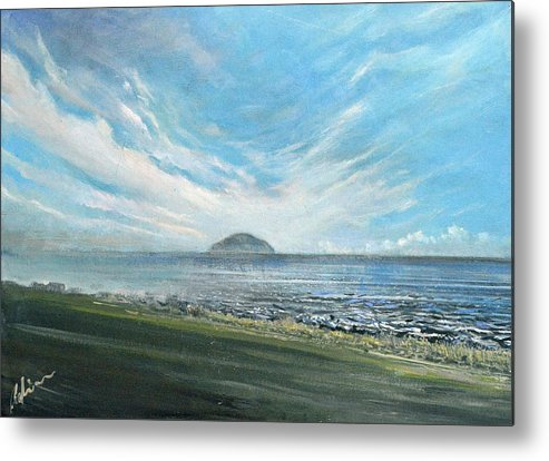 Ailsa Craig Metal Print featuring the painting Ailsa Craig by Mark Robinson