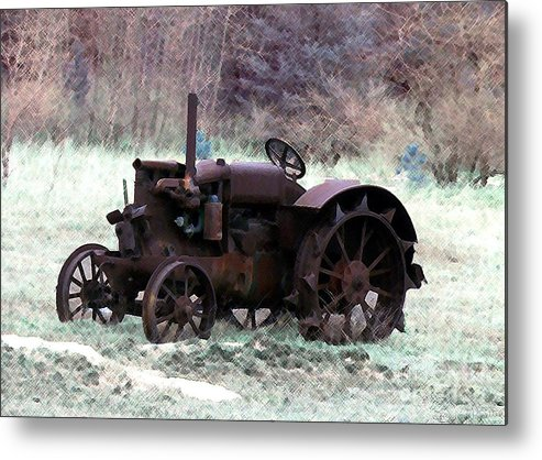 Tractor Metal Print featuring the photograph An Old Friend by Desiree Paquette