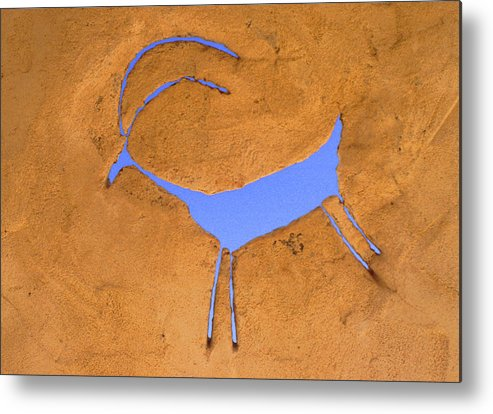 Anasazi Metal Print featuring the photograph Antelope Petroglyph by Jerry McElroy