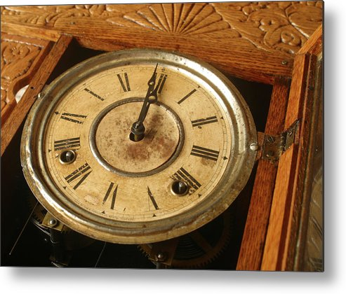 Horizontal Metal Print featuring the photograph Antique Clock 2 by Jack Dagley