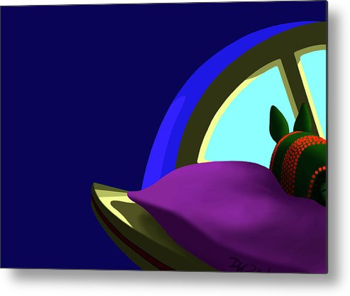 Dkzn Metal Print featuring the digital art Armadillo On A Pillow by Tom Dickson