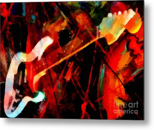 Art And Music Painting Metal Print featuring the painting Art And Music Painting by Catherine Lott