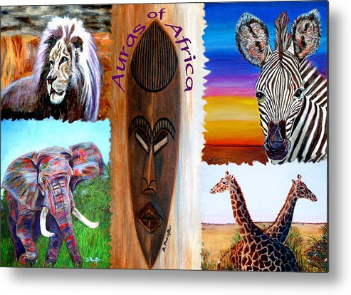 Africa Metal Print featuring the painting Auras Of Africa by Donna Proctor