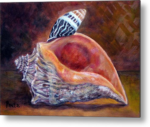 Shells Metal Print featuring the painting Balanced by Gay Pautz