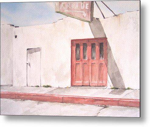 Urban Landscape Metal Print featuring the painting Balboa Fun Zone by Philip Fleischer