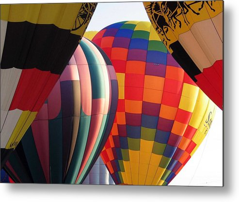 Hot Air Balloons Metal Print featuring the photograph Balloons by Margaret Fortunato