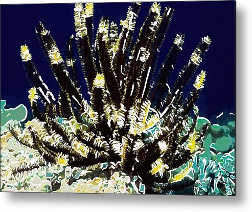 Starfish Metal Print featuring the painting Beautiful Marine Plants 10 by Lanjee Chee
