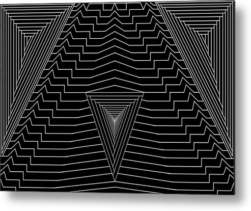 Se-metric Metal Print featuring the digital art Black Diamond by Christopher Rowlands