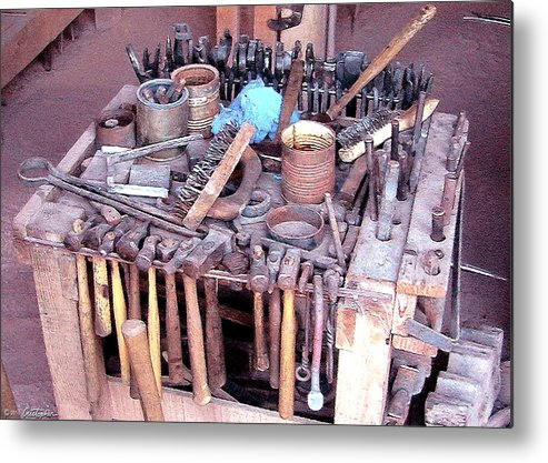 Blacksmith Metal Print featuring the photograph Blacksmith Tools by Cristophers Dream Artistry