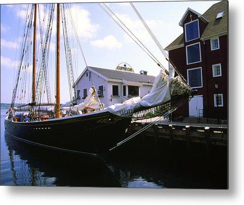 Bluenose Metal Print featuring the photograph Bluenose II At Historic Properties Halifax Nova Scotia by Gary Corbett