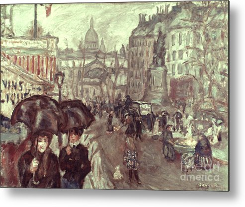 1895 Metal Print featuring the photograph Bonnard: Place Clichy, C1895 by Granger