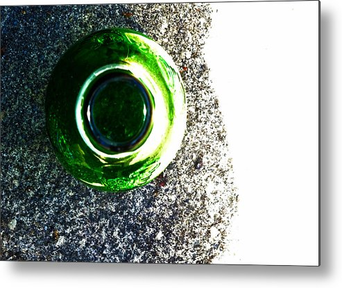 Bottle Metal Print featuring the photograph Bottle On The Street by Leah Stark