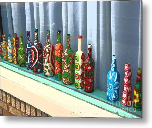 Bottles Metal Print featuring the photograph Bottled Up by Debbi Granruth