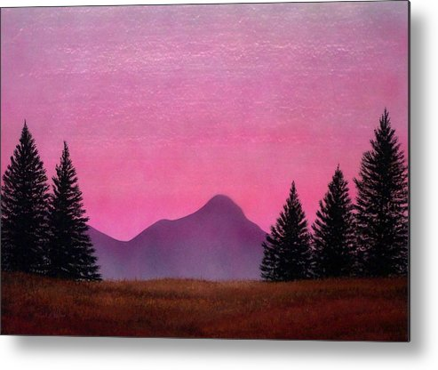 Landscape Metal Print featuring the painting Brightness by Frank Wilson