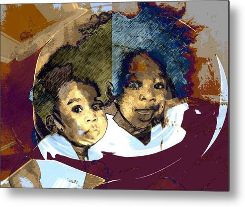 Portrait Metal Print featuring the photograph Brothers 1 by LeeAnn Alexander