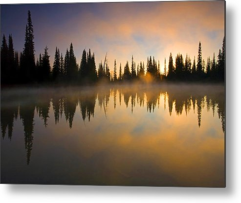 Lake Metal Print featuring the photograph Burning Dawn by Mike Dawson