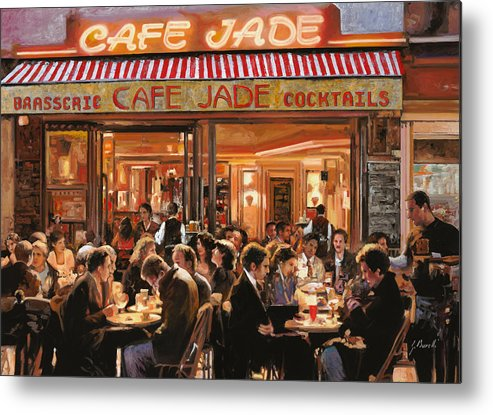 Brasserie Metal Print featuring the painting Cafe Jade by Guido Borelli