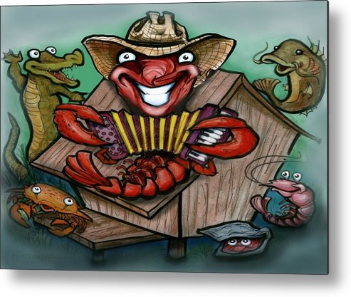 Cajun Metal Print featuring the greeting card Cajun Critters by Kevin Middleton