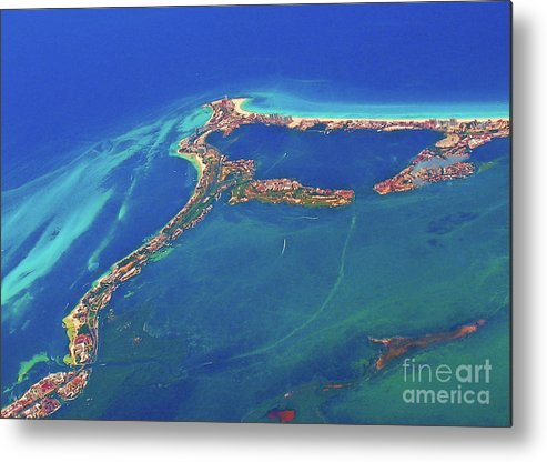 Cancun Wide By Air Metal Print featuring the photograph Cancun Wide By Air by Patti Whitten