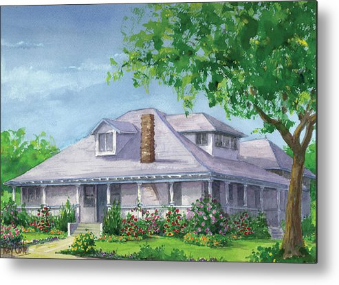 Carpinteria Landmarks Metal Print featuring the painting Castro House by Ray Cole