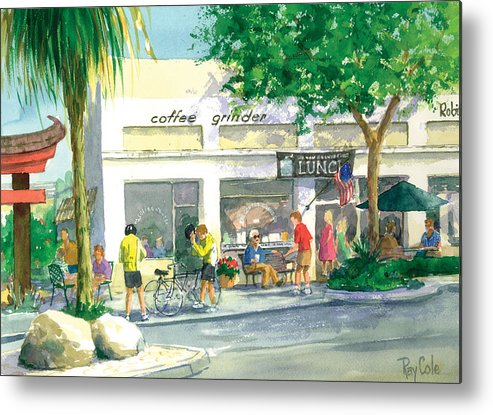 Cafe Metal Print featuring the painting Coffee Grinder by Ray Cole