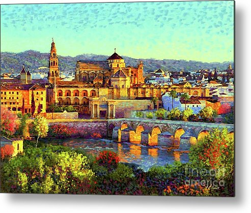 Spain Metal Print featuring the painting Cordoba Mosque Cathedral Mezquita by Jane Small