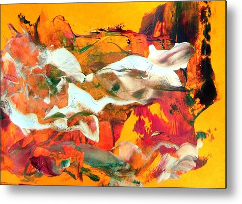 Various White Fish Metal Print featuring the painting Cute Little White Fish by Bruce Combs - REACH BEYOND