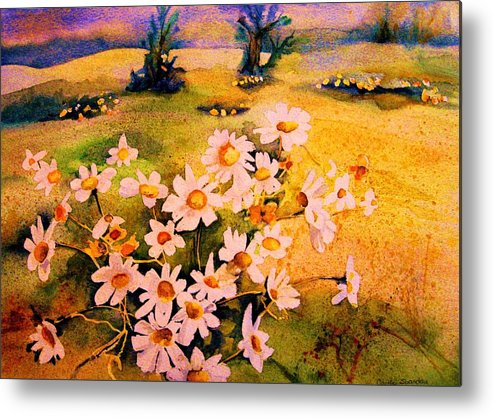 Daisies Metal Print featuring the painting Daisies In The Sun by Carole Spandau