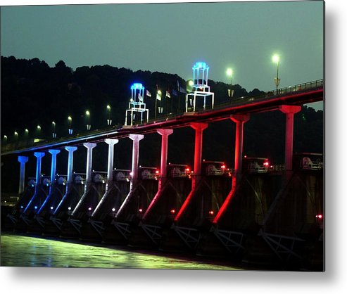 Bridge Metal Print featuring the photograph Damm River Bridge by Kenna Westerman