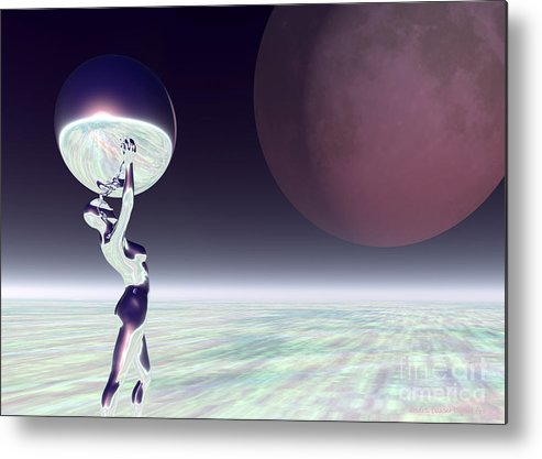 Bryce Metal Print featuring the digital art Dancing With The Moon by Sandra Bauser Digital Art